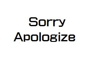 英語で謝る